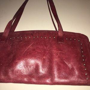 Amazing AUTHENTIC Signa Cartier Leather Carven Bag